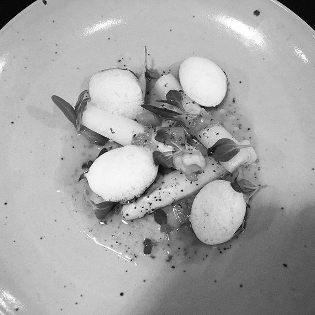asperge blanche et clam
